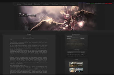 Survival website screenshot